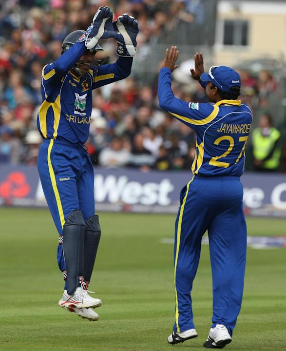 Mahela Jayawardene, right, was delighted with Sri Lanka's win over Pakistan