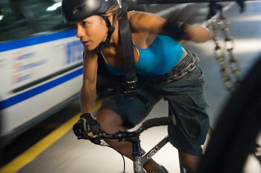 "This film image released by Columbia Pictures shows Dania Ramirez in a scene from ""Premium Rush."" (AP Photo/Columbia Pictures - Sony, Sarah Shatz)"