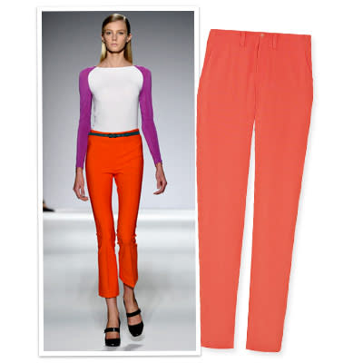 8. Wake Up a White Top With Statement-Making Trousers