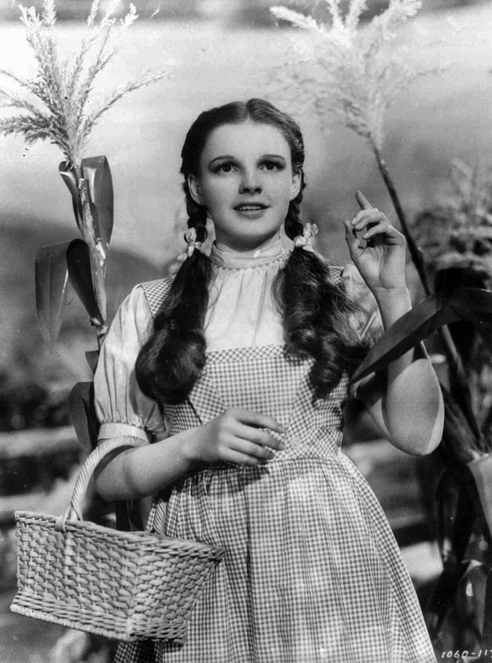 "FILE - In this 1939 file photo originally released by Warner Bros., Judy Garland portrays Dorothy in a scene from ""The Wizard of Oz.""   (AP Photo/Warner Bros., file)"