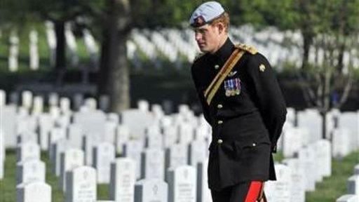 Prince Harry Visits Arlington National Cemetery