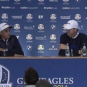 Fowler and Walker talk about their first day rounds