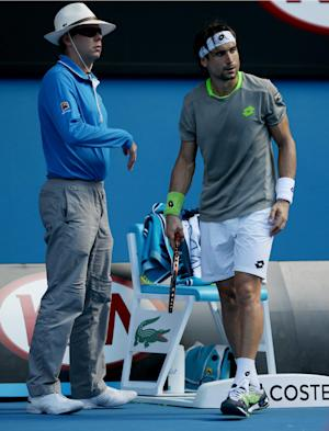 David Ferrer shoves Australian Open line judge