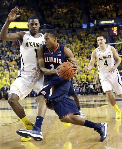 Trey Burke-led No. 7 Michigan beats Illinois 71-58