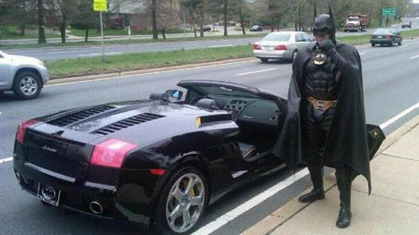 Batman traffic stop