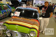 Vintage car collector Ronald Mojica says it took him a whole year to design this Paul Smith-inspired Mini Cooper, which was displayed during the recent Trans Sport Show in Pasay City.