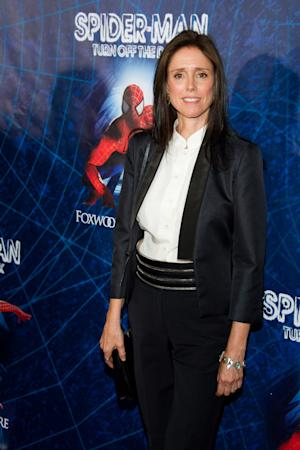 "FILE - In this June 14, 2011 file photo, director Julie Taymor arrives at the opening night performance of the Broadway musical ""Spider-Man Turn Off the Dark"" in New York. Producers of ""Spider-Man: Turn Off the Dark"" have fired back in their legal battle with one-time director Julie Taymor, claiming in a countersuit that she failed to fulfill her legal obligations and refused to collaborate on changes to the $75 million show. (AP Photo/Charles Sykes)"