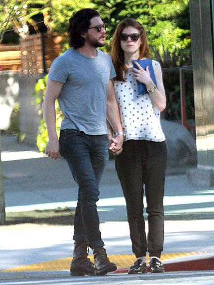 Game of Thrones Stars Kit Harington and Rose Leslie Hold Hands Amid Romance Rumors