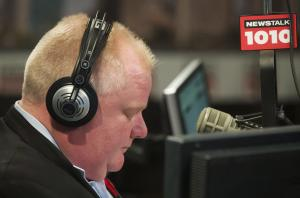 Toronto Mayor Rob Ford talks on his weekly radio show …