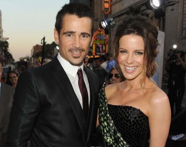 Colin Farrell and Kate Beckinsale arrive at the premiere of 'Total Recall' in Hollywood, Calif. on August 1, 2012  -- Getty Images