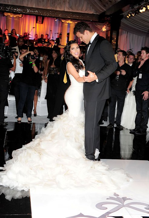 Kim Kardashian and Kris Humphries as seen on &quot;Kim's Fairytale Wedding.&quot; 