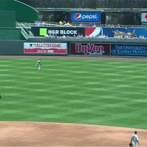 Hicks' diving catch