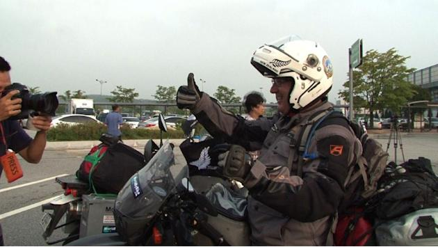 N.Zealand bikers allowed to cross Korean border