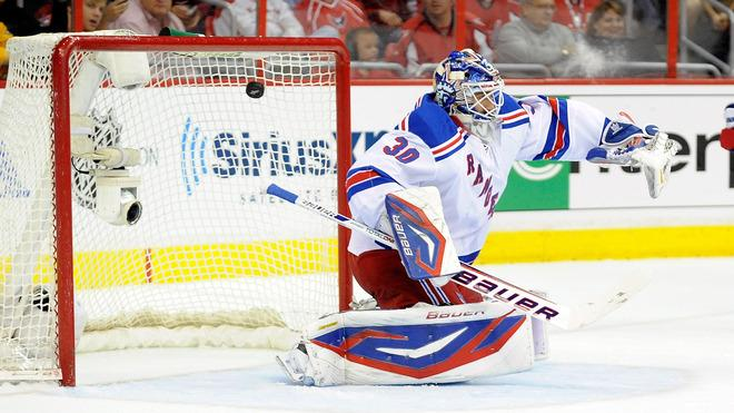 Henrik Lundqvist #30 Of The New York Rangers Allows A Goal In The First Period To Alex Ovechkin #8 (not Pictured) Of Getty Images