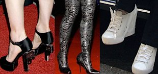 Gun heels, studded boots, and wedge sneakers are just some of Madonna's footwear faux pas