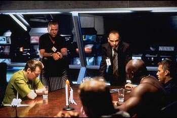 Steve Buscemi , Bruce Willis , Billy Bob Thornton , Michael Clarke Duncan and Ben Affleck in Touchstone's Armageddon