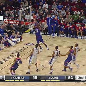 KU's Andrew Wiggins Soars for Alley-Oop vs. Duke