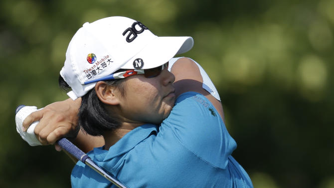 Taiwan's Yani Tseng hits off the sixth tee during the first round of the U.S. Women's Open golf tournament on Thursday, July 5, 2012, in Kohler, Wis. (AP Photo/Julie Jacobson)