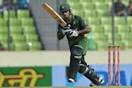 Pakistani batsman Mohammad Hafeez, shown here in Dhaka on March 22, has been made the new captain after Misbah-ul Haq was dropped from the Twenty20 squad. The decision was widely expected after Misbah led Pakistan to a 2-1 defeat in the three-match Twenty20 series against England in February