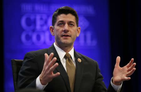 Paul Ryan speaks at the Wall Street Journal's CEO Council meeting in Washington