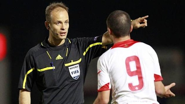 Bulgarian referee Nikolay Yordanov