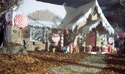 The gingerbread house in Tag Entertainment's Hansel &amp; Gretel