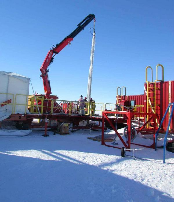 Buried Antarctic Lake Yields Hints of Life