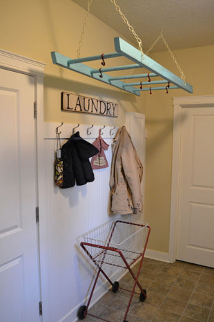 Use a Ladder as a Laundry Rack