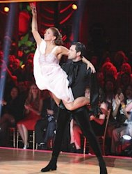 Maksim Chermkovskiy and Melissa Gilbert perform the Argentine tango on 'Dancing,' April 30, 2012 -- ABC