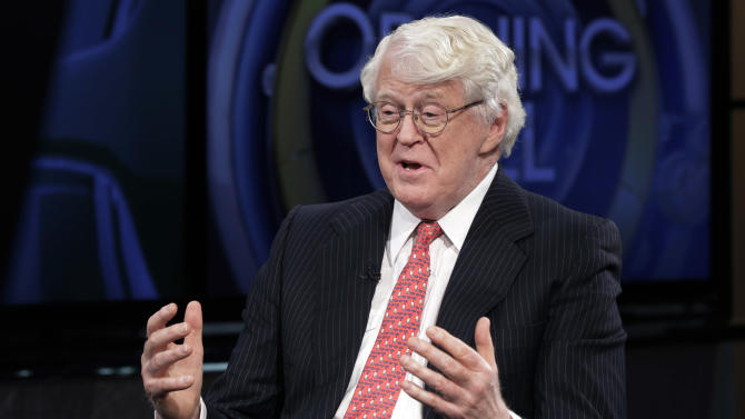 FILE - This March 4, 2014 file photo shows William Koch, brother of Charles Koch and David Koch interviewed in New York. The Kochs are demonized by Democrats, who lack a liberal equal to counter their weight, and not entirely understood by Republicans, who benefit from their seemingly limitless donations. (AP Photo/Richard Drew, File)