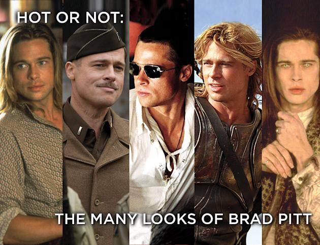 Many Looks of Brad Pitt Title Card