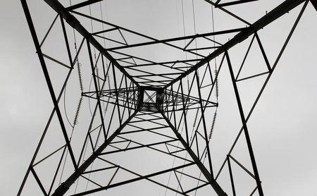 A high voltage electrical pylon stands on the outskirts of Kenya's capital Nairobi