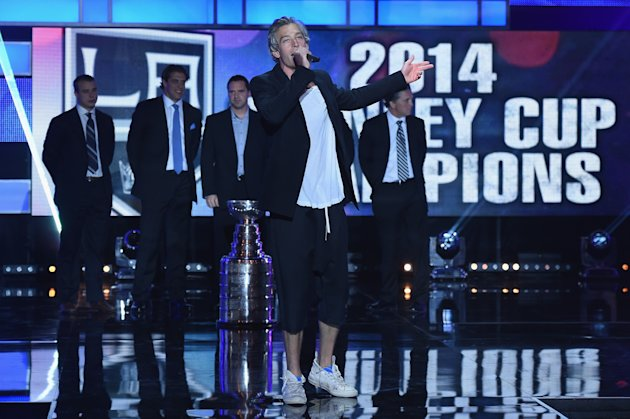 LAS VEGAS, NV - JUNE 24: Recording artist Matisyahu performs during the 2014 NHL Awards at the Encore Theater at Wynn Las Vegas on June 24, 2014 in La...