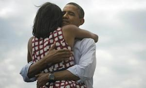 """After the election was called in his favor, President Obama tweeted out this photo with the message """"Four more years,"""" which was then retweeted more than 600,000 times."""