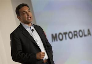 Motorola CEO, Sanjay Jha speaks at the launch of the Motorola PHOTON 4G Summer and the Motorola TRIUMPH Virgin Mobile Summer in New York