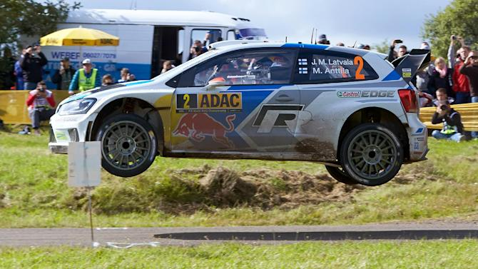 Rallying - Latvala leads as Ogier crashes out in Germany