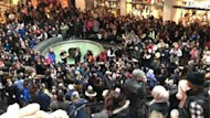 An Idle No More protest at Toronto's Eaton Centre was organized in response to a call for action from hunger-striking First Nations Chief Theresa Spence.