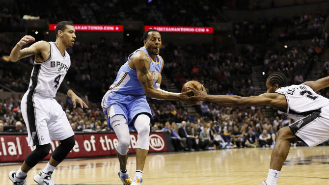 NBA: Denver Nuggets at San Antonio Spurs