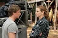 Daniel Lissing as SEAL James King and Daisy Betts as Lieutenant Grace Shepard in ABC's 'Last Resort' -- ABC