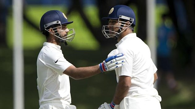 India captain MS Dhoni (R) and Ajinkya Rahane (L) (AFP)