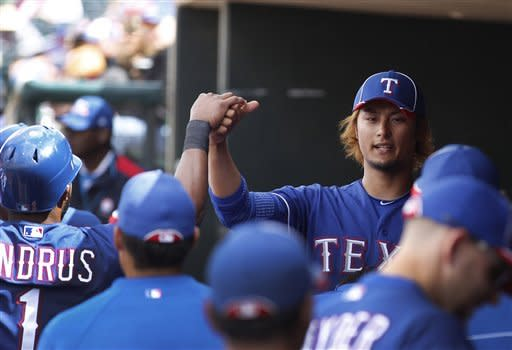 Aoki's 3 hits, 3 RBIs lead Brewers over Rangers