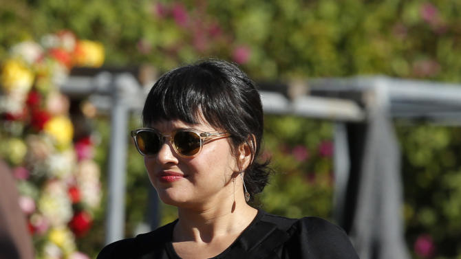 Indian Sitar maestro Ravi Shankar's daughter and singer Nora Jones, leaves after a memorial service for Shankar in Encinitas, Calif., Thursday, Dec. 20, 2012.   Shankar was a master of the Indian sitar who collaborated with and influenced George Harrison, John Coltrane and other Western music icons. He lived in Encinitas for two decades and died last week at age 92.  (AP Photo/Jae C. Hong)