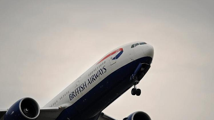 A British Airways aircraft takes off from Heathrow Airport in west London