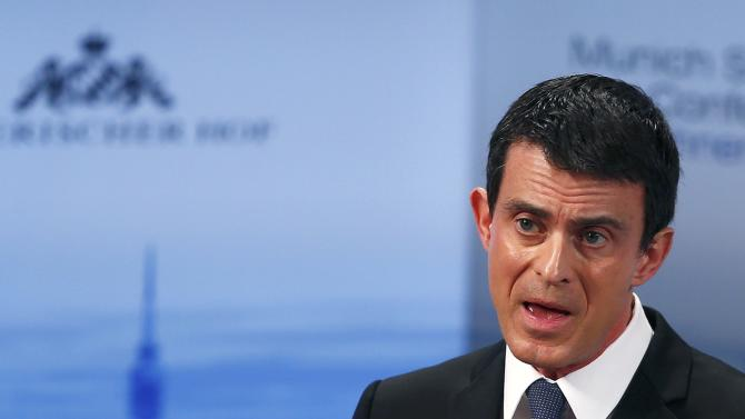 French Prime Minister Valls delivers a speech at the Munich Security Conference in Munich