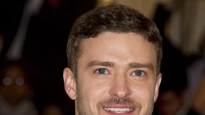 "FILE - This May 7, 2012 file photo shows singer-actor Justin Timberlake at the Metropolitan Museum of Art Costume Institute gala benefit in New York. Timberlake has concentrated almost exclusively on his acting career over the last few years. But on Thursday, Jan. 10, 2013, he posted a video on his that showed him walking into a studio, putting on headphones and saying: ""I'm ready."" He hasn't made an album since 2006's Grammy-winning ""FutureSex/LoveSounds.""  (AP Photo/Charles Sykes, file)"