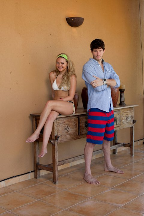 "Heather Marter (""Real World 25: Las Vegas"") and Dustin Zito (""Real World 25: Las Vegas"") compete in ""The Challenge: Battle of the Exes."""