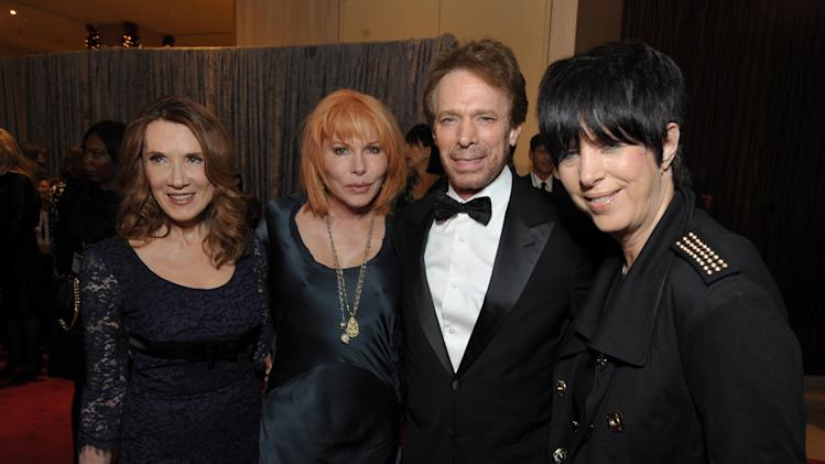 From left, Linda Bruckheimer, Kathy Nelson, Jerry Bruckheimer and Diane Warren attend the presentation of the 27th Annual American Cinematheque Award to Jerry Bruckheimer on Thursday, Dec. 12, 2013, in Beverly Hills, Calif. (Photo by John Shearer/Invision for American Cinematheque/AP Images)