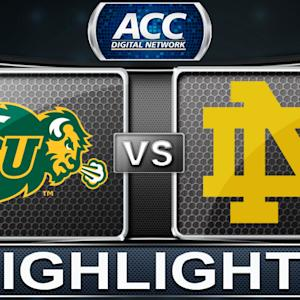 North Dakota State vs Notre Dame | 2013 ACC Basketball Highlights