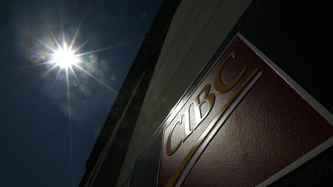 A sign is pictured outside a CIBC branch in Ottawa