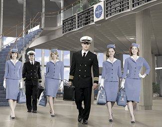 Don't be fooled: It's itchy underneath those &amp;#34;Pan Am&amp;#34; costumes (Bob D'Amico/ABC)